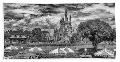 Beach Towel featuring the photograph Cinderella's Palace by Howard Salmon