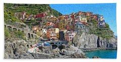 Cinque Terre Itl3403 Beach Towel