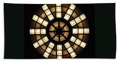 Circle In A Square Beach Towel by Rona Black