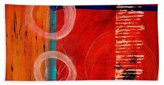 Circle Red Abstract Beach Towel