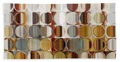 Circles And Squares 36. Modern Abstract Fine Art Beach Sheet by Mark Lawrence
