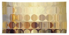 Circles And Squares 37. Modern Abstract Fine Art Beach Sheet by Mark Lawrence