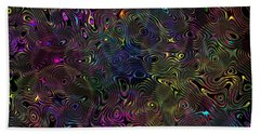 Rainbow Raindrops Beach Sheet by Mark Blauhoefer