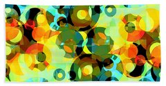 Beach Towel featuring the digital art Circles Squared 2 by Shawna Rowe