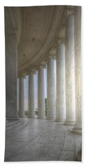 Circular Colonnade Of The Thomas Jefferson Memorial Beach Sheet