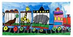 Circus Train Beach Towel