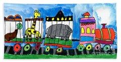 Circus Train Beach Sheet
