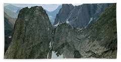 209615-cirque Of Towers, Wind Rivers, Wy Beach Towel