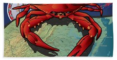 Citizen Crab Of Virginia Beach Towel