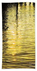 Beach Towel featuring the photograph Citrine Ripples by Chris Anderson