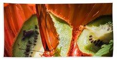 Citrus Butterfly Beach Sheet by Karen Wiles