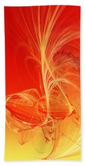 Beach Towel featuring the digital art Citrus Infusion by Andee Design