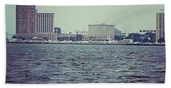 City Across The Sea Beach Towel