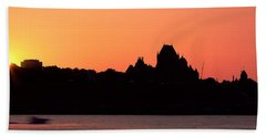City At Sunset, Chateau Frontenac Beach Towel