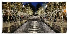 Beach Towel featuring the photograph City Creek Fountain - 2 by Ely Arsha