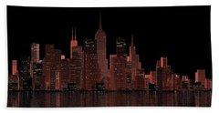 Chicago City Dusk Beach Sheet