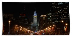 City Hall At Night Beach Towel