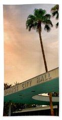 City Hall Sky Palm Springs City Hall Beach Towel
