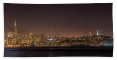 City Lights San Francisco California Beach Towel