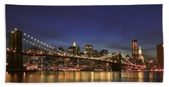 City Of Lights Beach Towel by Evelina Kremsdorf