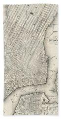 City Of New York Circ 1860 Beach Towel