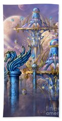 City Of Swords Beach Towel by Ciro Marchetti