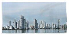 City Skyline, Castillogrande Beach Towel