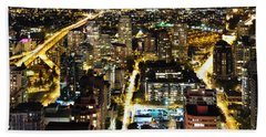 Cityscape Golden Burrard Bridge Mdlxiv Beach Sheet