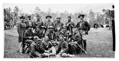 Civil War Officers, 1862 Beach Towel