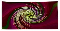 Claret Red Swirl Clematis Beach Towel by Debbie Oppermann