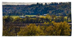 Clarksville Railroad Bridge Beach Towel