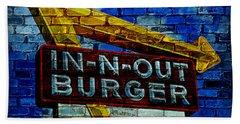 Classic Cali Burger 2.4 Beach Towel by Stephen Stookey