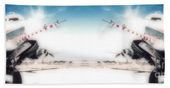 Beach Towel featuring the photograph Propeller Aircraft by R Muirhead Art