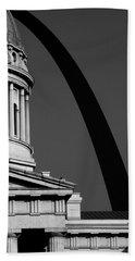 Classical Dome Arch Silhouette Black White Beach Towel