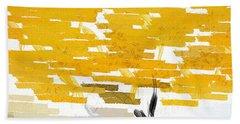 Classy Yellow Tree Beach Sheet by Lourry Legarde