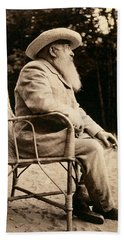 Claude Monet 1840-1926 Bw Photo Beach Towel