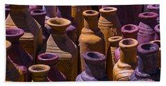 Clay Vases Beach Towel