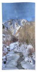 Clear Creek In The Winter Beach Towel