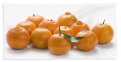Beach Sheet featuring the photograph Clementine Oranges On White by Lee Avison