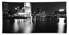 Cleveland In Black And White Beach Towel