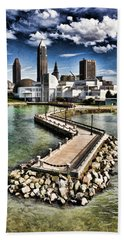 Cleveland Inner Harbor - Cleveland Ohio - 1 Beach Towel