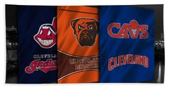 Cleveland Sports Teams Beach Sheet