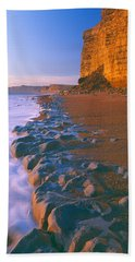 Cliff On The Beach, Burton Bradstock Beach Towel