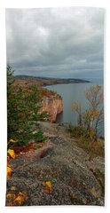 Beach Sheet featuring the photograph Cliffside Fall Splendor by James Peterson