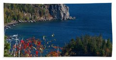 Cliffside Scenic Vista Beach Towel by James Peterson
