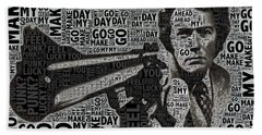 Clint Eastwood Dirty Harry Beach Towel