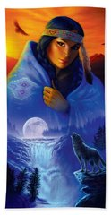 Cloak Of Visions Portrait Beach Towel by Andrew Farley