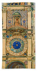 Clock Tower In Saint Mark's Square Venice Beach Towel