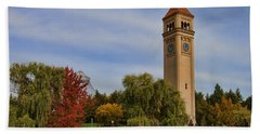 Clocktower Fall Colors Beach Sheet
