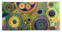 Clockwork Garden Beach Sheet by Barbara Moignard